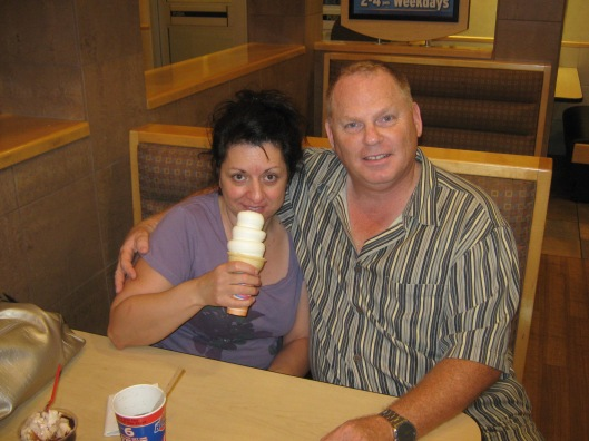 Sharing an ice cream